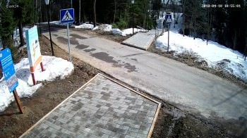 Абрамцево, Пешеходная зона, Перед станцией