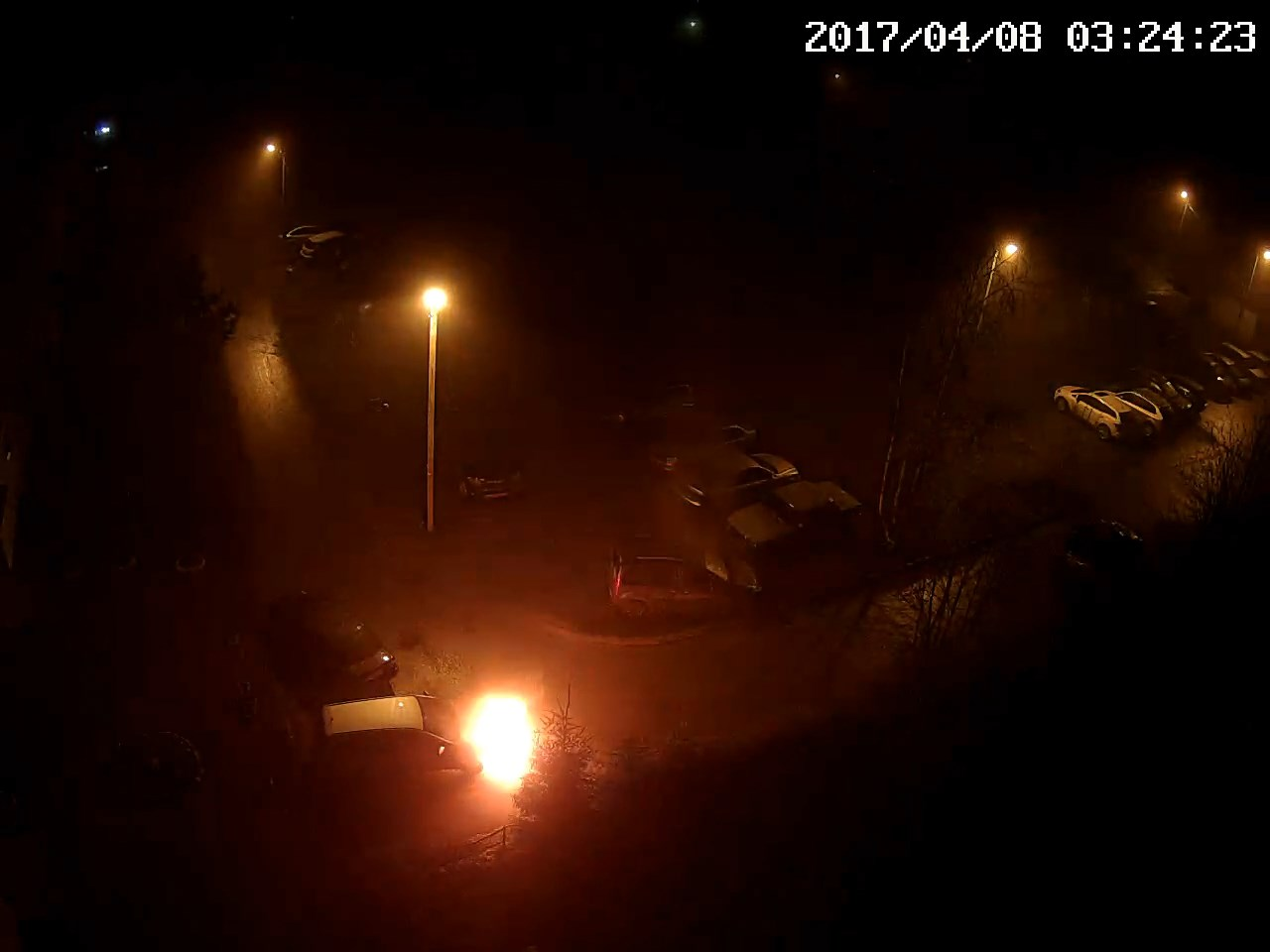 Поджог автомобиля на улице Седина