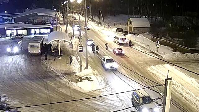 Столкновение пешехода и автомобиля