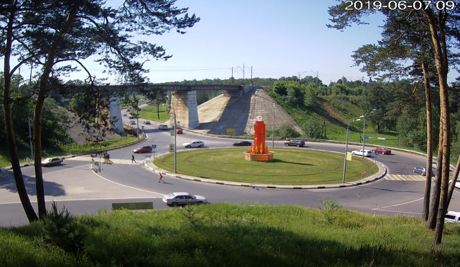 ДТП на круге у моста