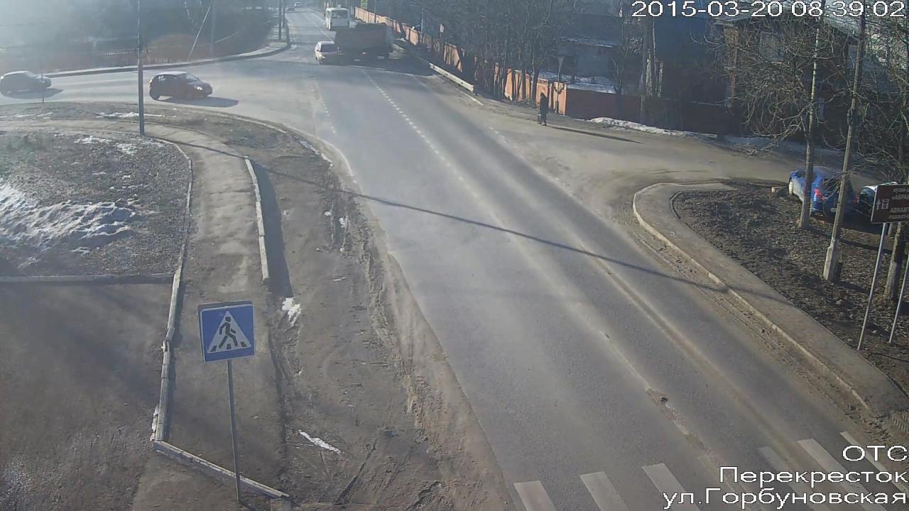 ДТП на перекрестке на ул. Горбуновская