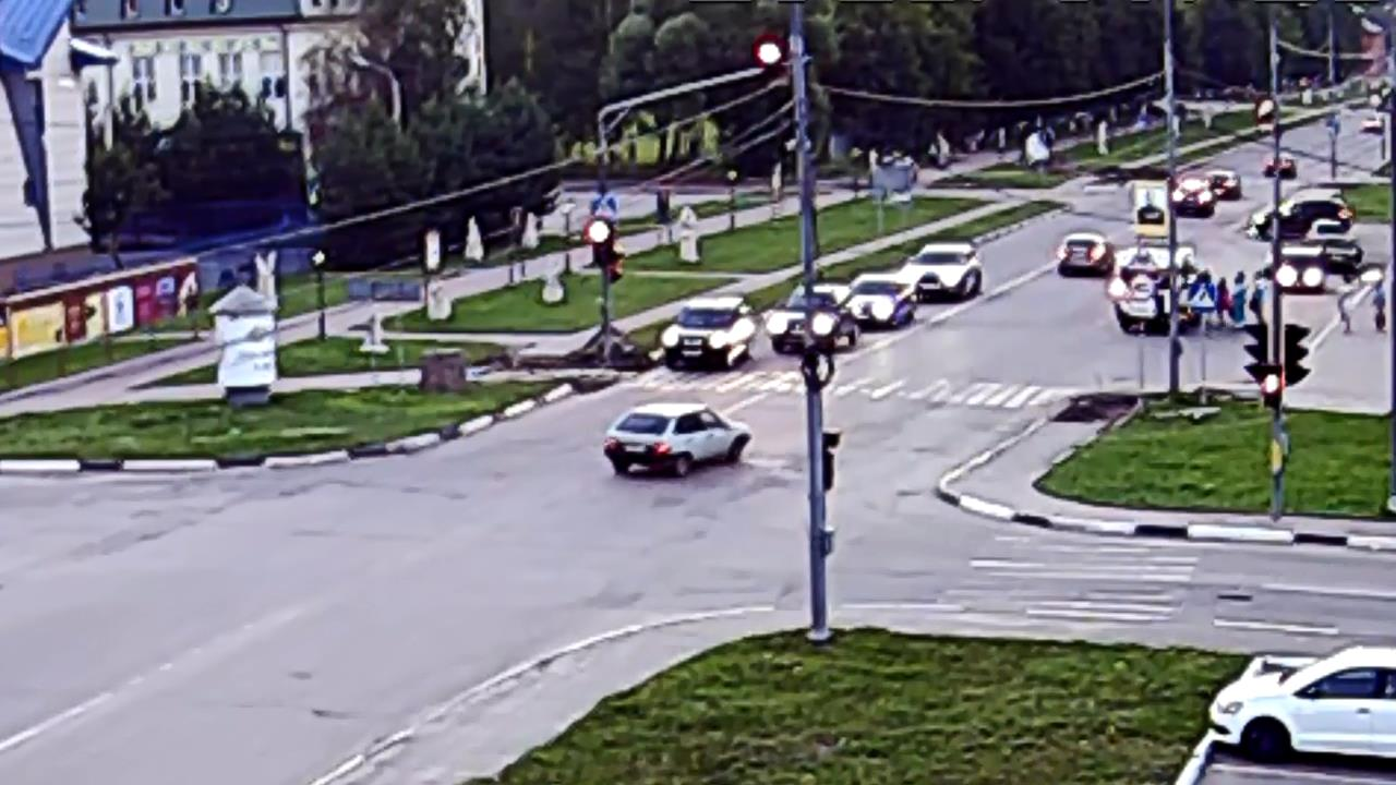 ДТП и драка на светофоре