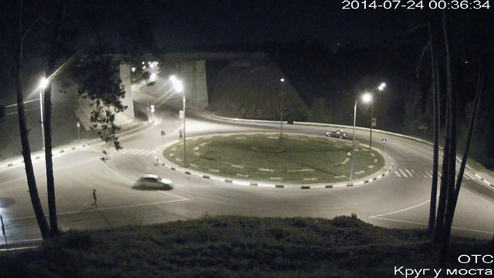 Ночной дрифт на круге